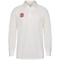 Ivory - Front - Gray-Nicolls Big Boys Childrens-Kids Matrix Long Sleeve Cricket Shirt
