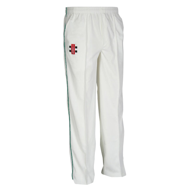Ivory- Bottle - Front - Gray-Nicolls Children-Kids Matrix Cricket Trousers