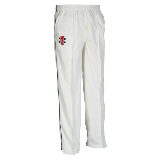 Ivory- Navy - Front - Gray-Nicolls Children-Kids Matrix Cricket Trousers