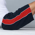 Navy- Red- White - Pack Shot - Finden & Hales Mens Contrast Sports Shorts