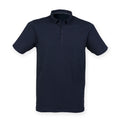 Navy - Front - Skinnifit Mens Fashion Short Sleeve Polo Shirt