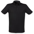 Black - Front - Skinnifit Mens Fashion Short Sleeve Polo Shirt
