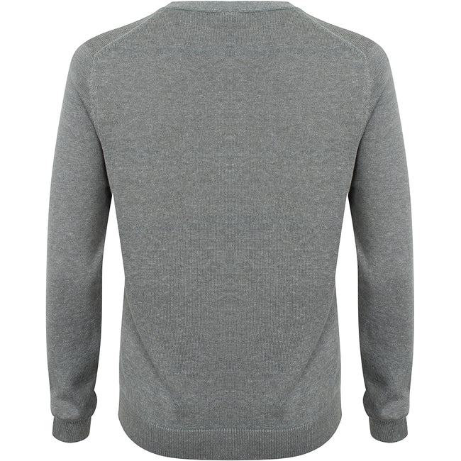 Slate Grey Marl - Front - Henbury Womens-Ladies V-Neck Button Up Cardigan