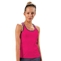 White - Front - Tri Dri Womens-Ladies Panelled Fitness Vest