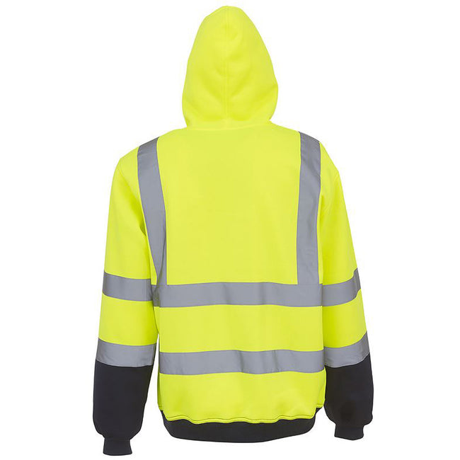 Yellow - Front - Yoko Mens High Visibility Pull-Over Hoodie