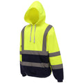 Orange-Navy - Front - Yoko Mens High Visibility Pull-Over Hoodie