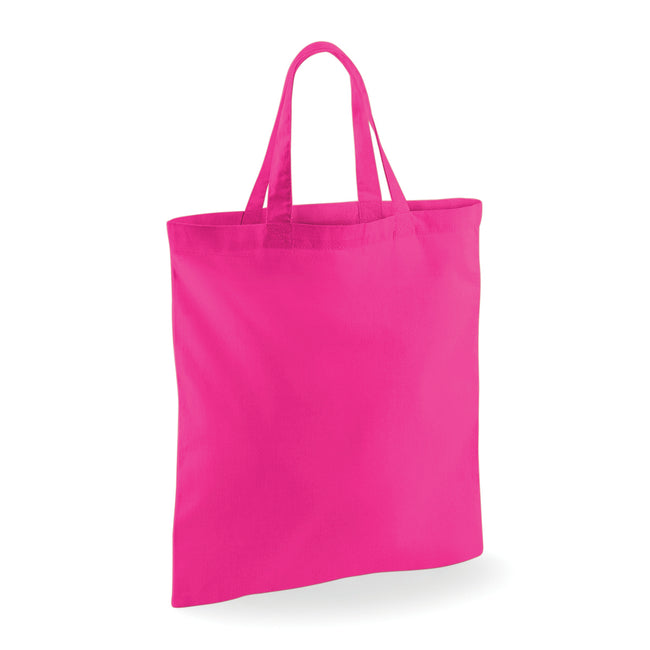 Fuchsia - Front - Westford Mill Short Handle Bag For Life