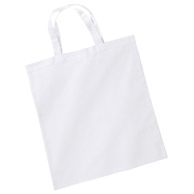 White - Back - Westford Mill Short Handle Bag For Life