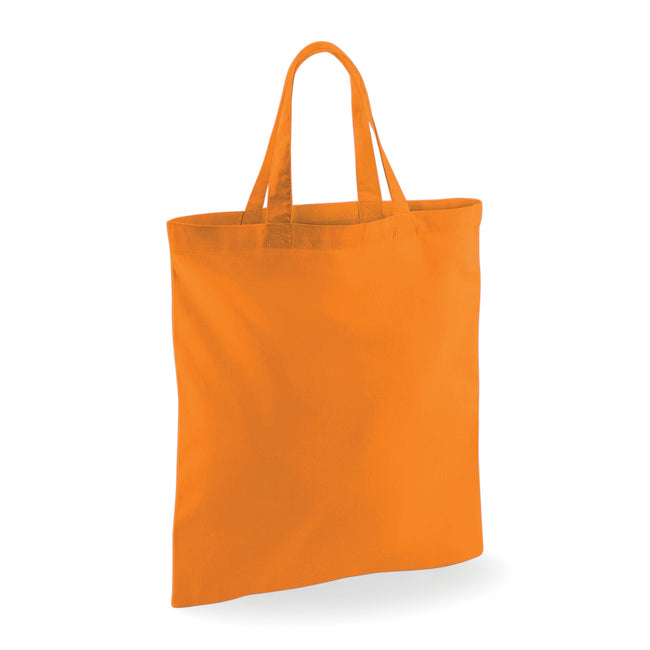 Orange - Front - Westford Mill Short Handle Bag For Life