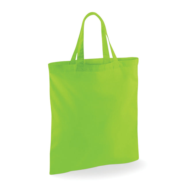 Lime Green - Front - Westford Mill Short Handle Bag For Life