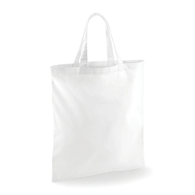 White - Front - Westford Mill Short Handle Bag For Life