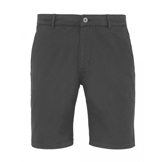 Slate - Front - Asquith & Fox Mens Casual Chino Shorts