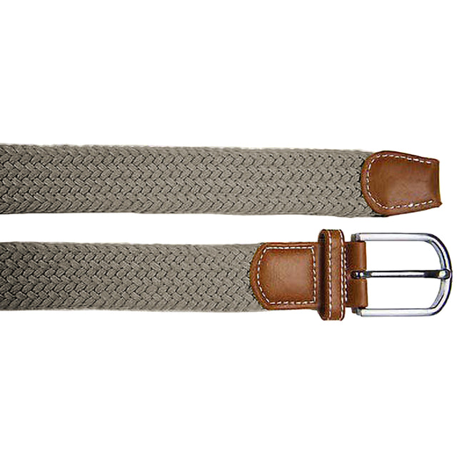Slate - Back - Asquith & Fox Mens Woven Braid Stretch Belt