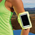 Lightning Yellow - Back - Tri Dri Fitness Armband Mobile Phone-Cellphone Holder