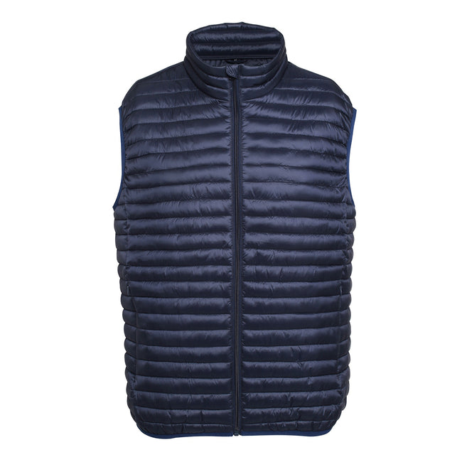 Red - Front - 2786 Mens Tribe Fineline Padded Gilet-Bodywarmer