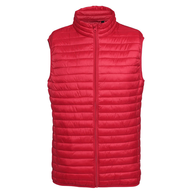 Steel - Front - 2786 Mens Tribe Fineline Padded Gilet-Bodywarmer