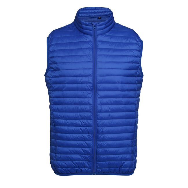 Bright Yellow - Front - 2786 Mens Tribe Fineline Padded Gilet-Bodywarmer