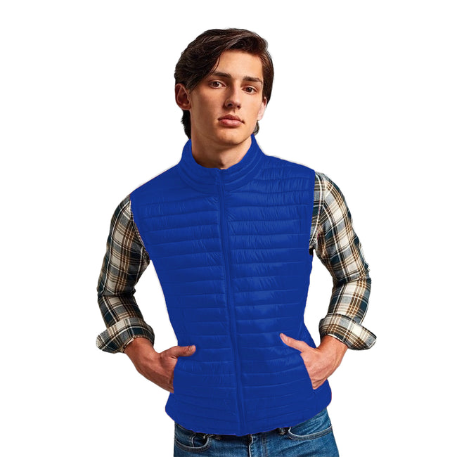 Bright Yellow - Back - 2786 Mens Tribe Fineline Padded Gilet-Bodywarmer