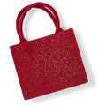 Red- Gold - Back - Westford Mill Shimmer Jute Mini Gift Bag