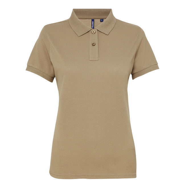 Sapphire - Front - Asquith & Fox Womens-Ladies Short Sleeve Performance Blend Polo Shirt