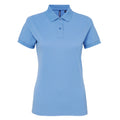 White - Front - Asquith & Fox Womens-Ladies Short Sleeve Performance Blend Polo Shirt