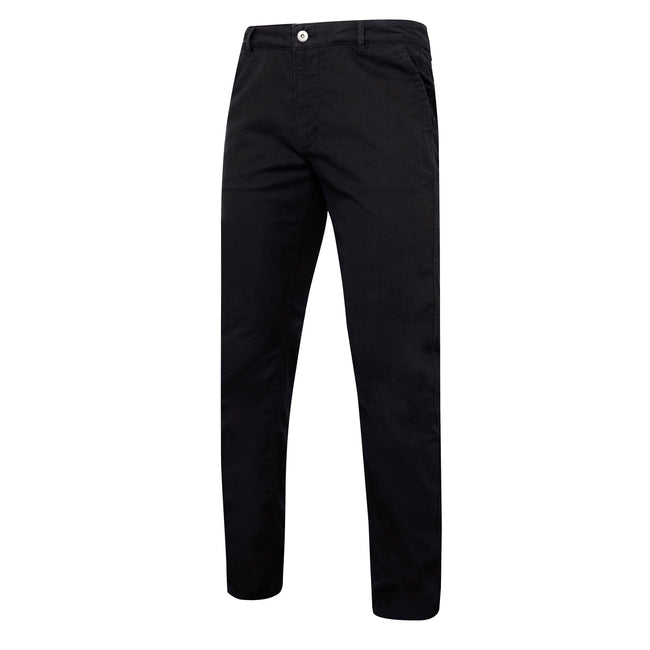 Navy - Front - Asquith & Fox Mens Slim Fit Cotton Chino Trousers