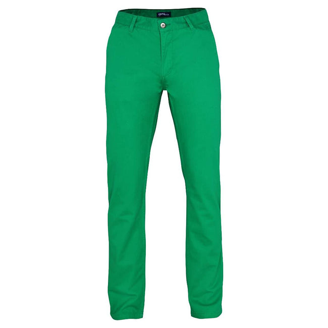 White - Front - Asquith & Fox Mens Slim Fit Cotton Chino Trousers