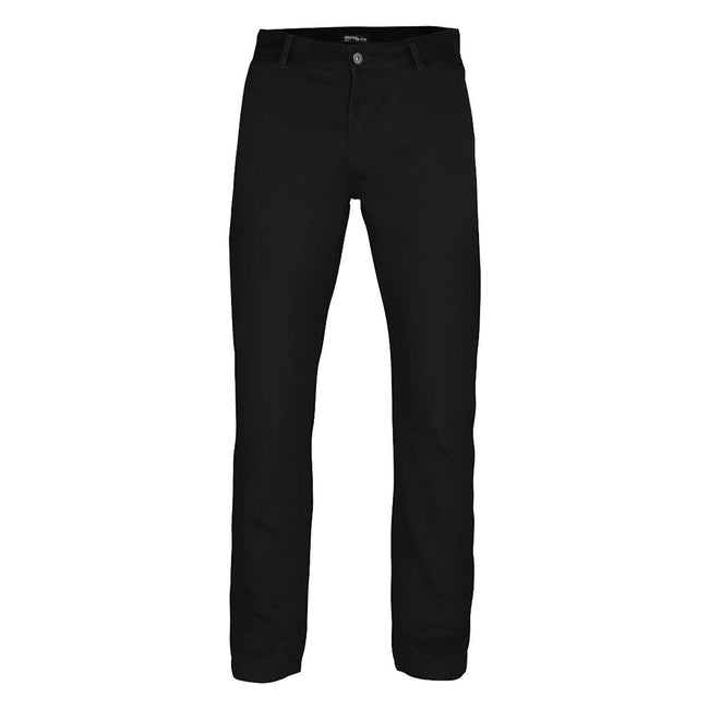 Khaki - Front - Asquith & Fox Mens Slim Fit Cotton Chino Trousers