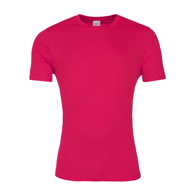 Hot Pink - Front - AWDis Just Cool Mens Smooth Short Sleeve T-Shirt