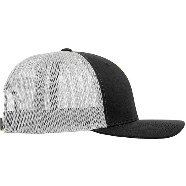 Black-White - Back - Yupoong Flexfit Retro Snapback Trucker Cap