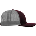 Burgundy-Light Gray - Back - Yupoong Flexfit Retro Snapback Trucker Cap