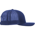 Navy-White - Back - Yupoong Flexfit Retro Snapback Trucker Cap