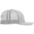 Navy-White - Side - Yupoong Flexfit Retro Snapback Trucker Cap