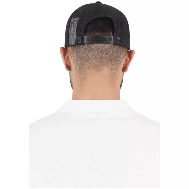 Black-Black - Side - Yupoong Flexfit Retro Snapback Trucker Cap