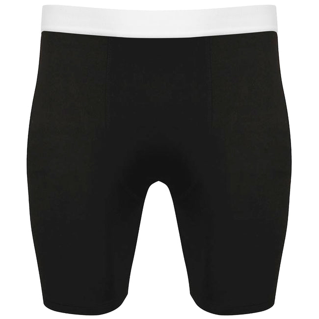 Black-White - Front - Tombo Mens Baselayer Boxer Shorts