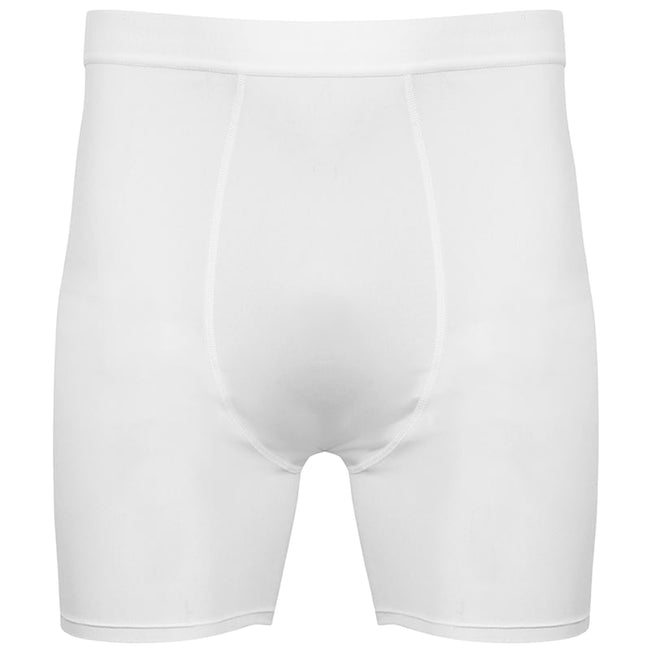 White-White - Front - Tombo Mens Baselayer Boxer Shorts