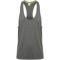 Grey Marl - Front - Tombo Mens Muscle Vest