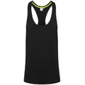 Black - Front - Tombo Mens Muscle Vest