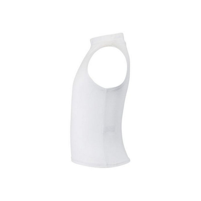 White - Back - Skinni Minni Childrens Girls High Neck Crop Vest