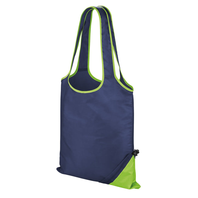 Navy-Lime - Front - Result Core Compact Shopping Bag