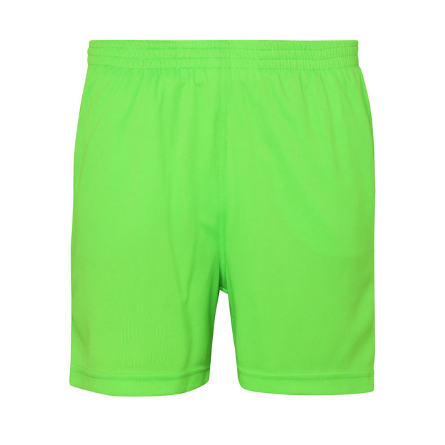 Electric Green - Front - AWDis Just Cool Childrens-Kids Sports Shorts