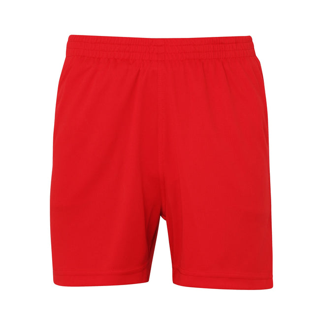 Fire Red - Front - AWDis Just Cool Childrens-Kids Sports Shorts