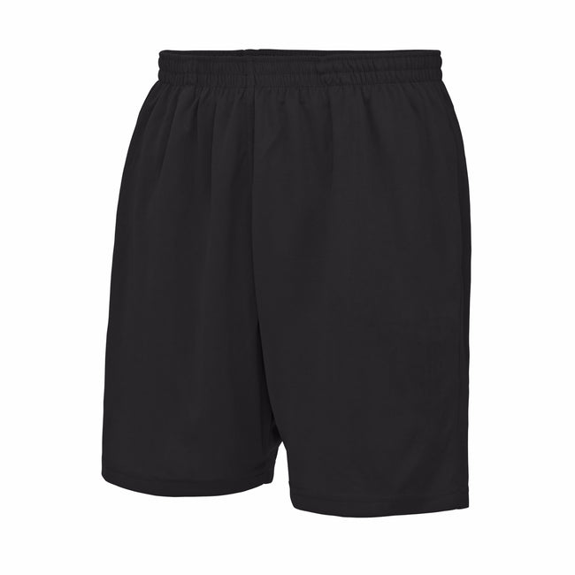 Jet Black - Front - AWDis Just Cool Childrens-Kids Sports Shorts