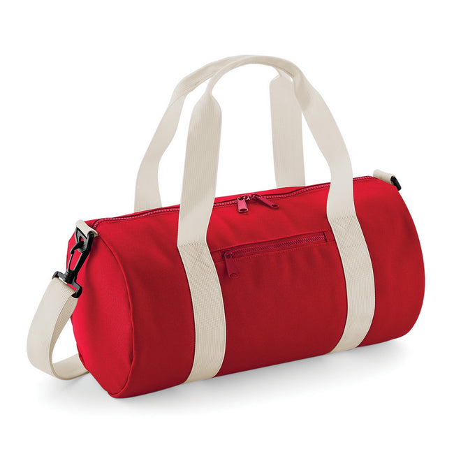 Classic Red-Off White - Front - Bagbase Mini Barrel Bag
