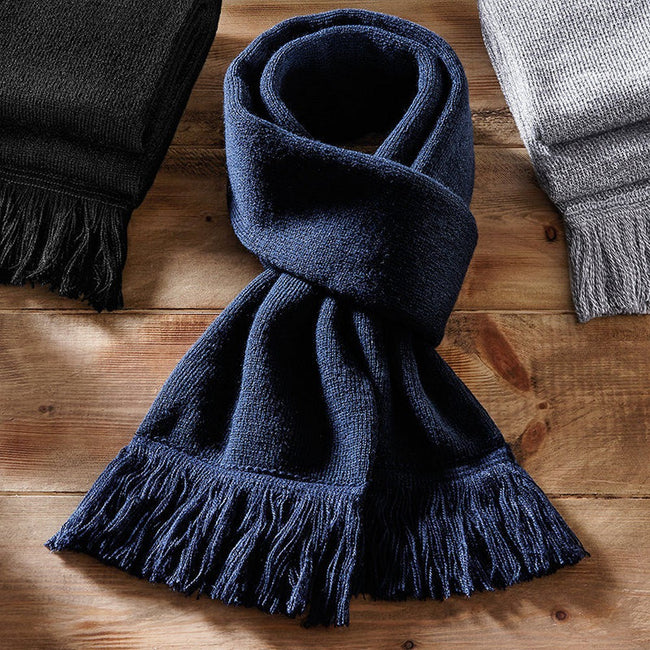 Heather Gray - Front - Beechfield Unisex Classic Knitted Scarf