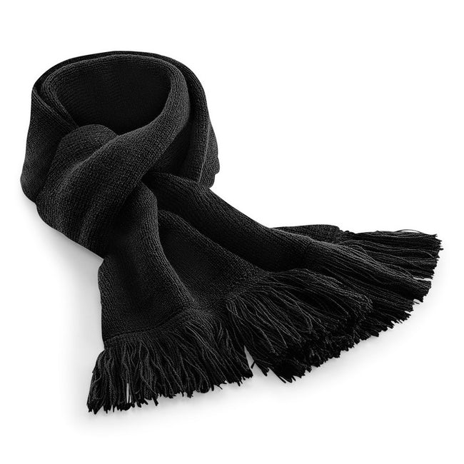 Black - Front - Beechfield Unisex Classic Knitted Scarf