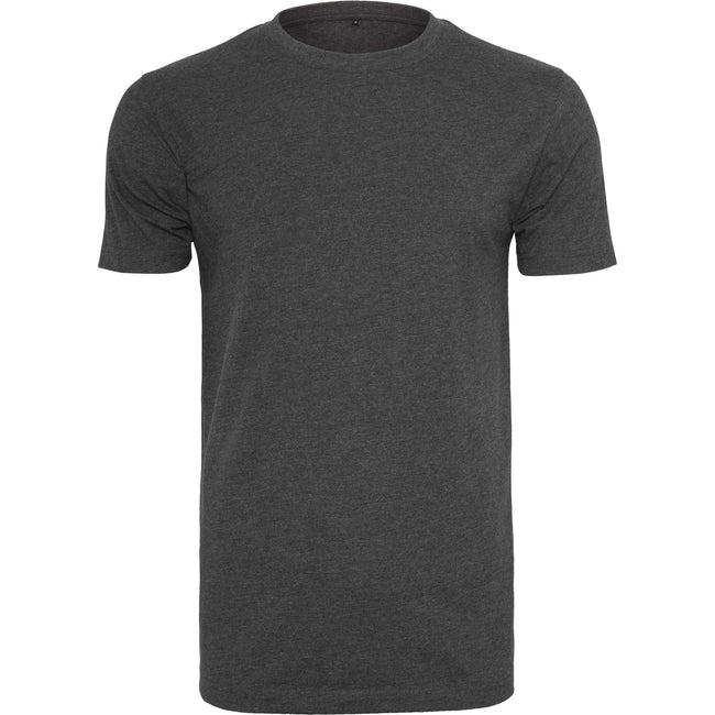 Charcoal - Front - Build Your Brand Mens T-Shirt Round Neck