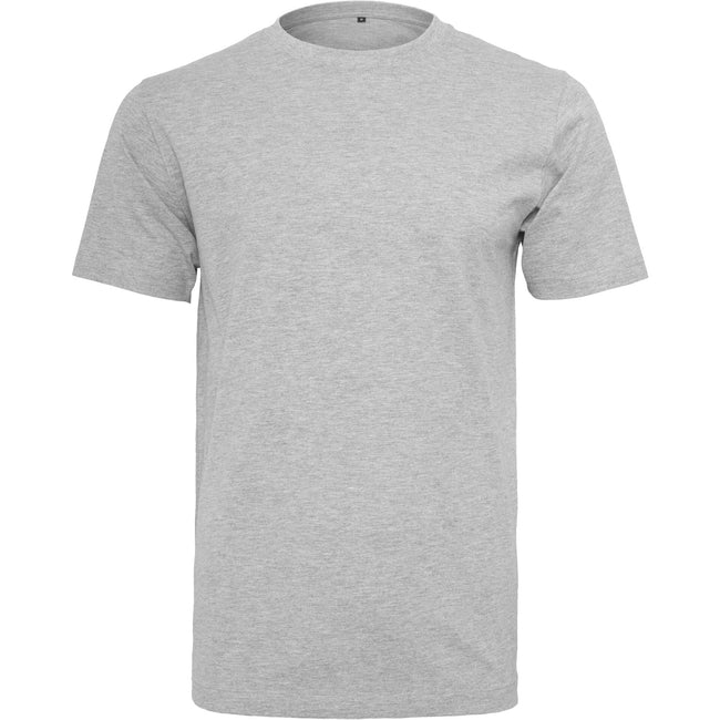 Heather Grey - Front - Build Your Brand Mens T-Shirt Round Neck