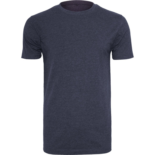 Burgundy - Front - Build Your Brand Mens T-Shirt Round Neck