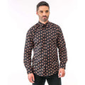 Blue - Front - Christmas Shop Mens Printed Christmas Shirt